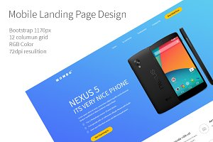 Mobile Landing Page Design PSD