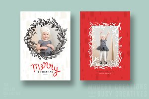 Christmas Card | Merry Wreath