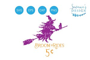 Broom Rides 5 Cents SVG, Witch SVG