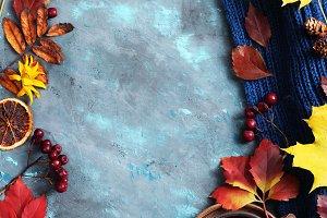 autumn leaves and tea