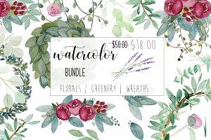 Watercolor clip art Bundle