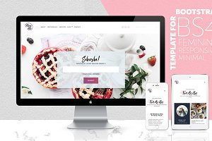 HTML & BS4 Feminine Website Template