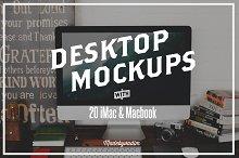 20 iMac & Macbook screen mockups