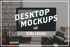 20 iMac & Macbook screen mockups