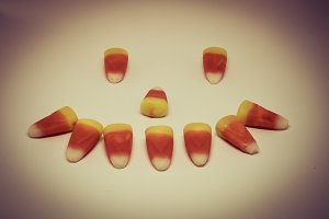 Candy Corn Smiley Face