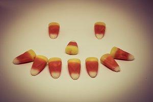 Candy Corn Smiley Face