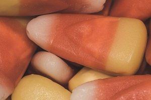 Candy Corn Pieces Closeup