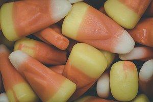 Vintage Candy Corn Closeup