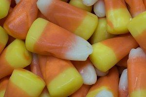 Square Closeup of Candy Corn