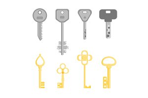 Golden and Silver Key Set