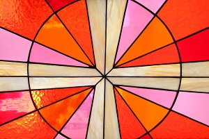 stained colorful glass window