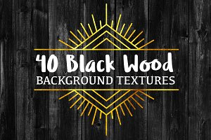 40 Black Wood Background Textures