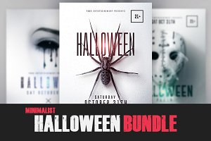 03 Halloween Bundle Minimalist Flyer