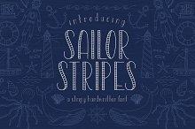 Sailor Stripes Font + Illustrations