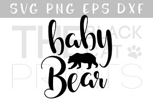 Baby Bear SVG DXF PNG EPS
