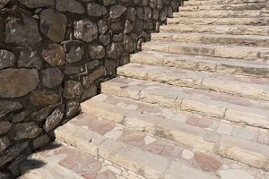 Stone stairs in the Castillo