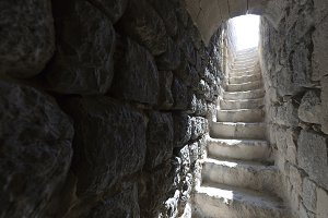 Stairs in the tower of Castillo