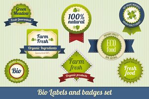 Bio Labels and badges set