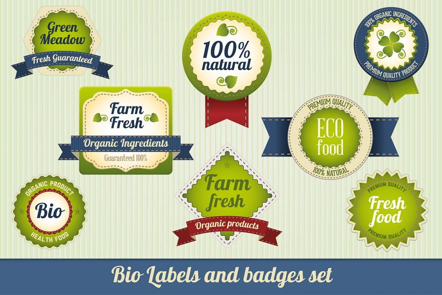 Bio Labels and badges set