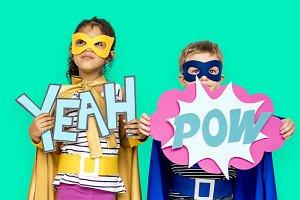 Children in superhero costume