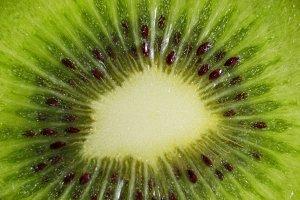 Macro shot of a kiwi