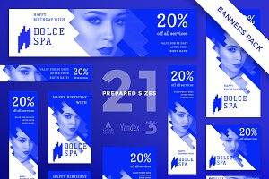 Banners Pack | Dolce Spa