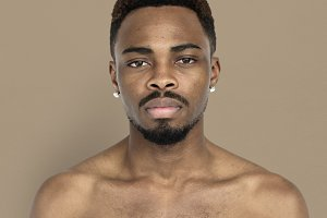 African descent man studio portrait