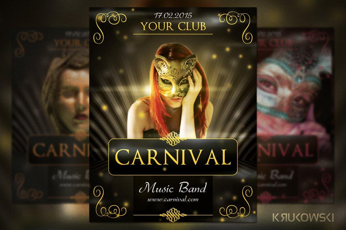 carnival elegant flyer flyer templates creative market
