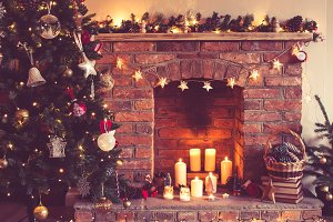 Christmas setting background