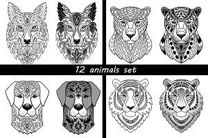 12 Animals Set