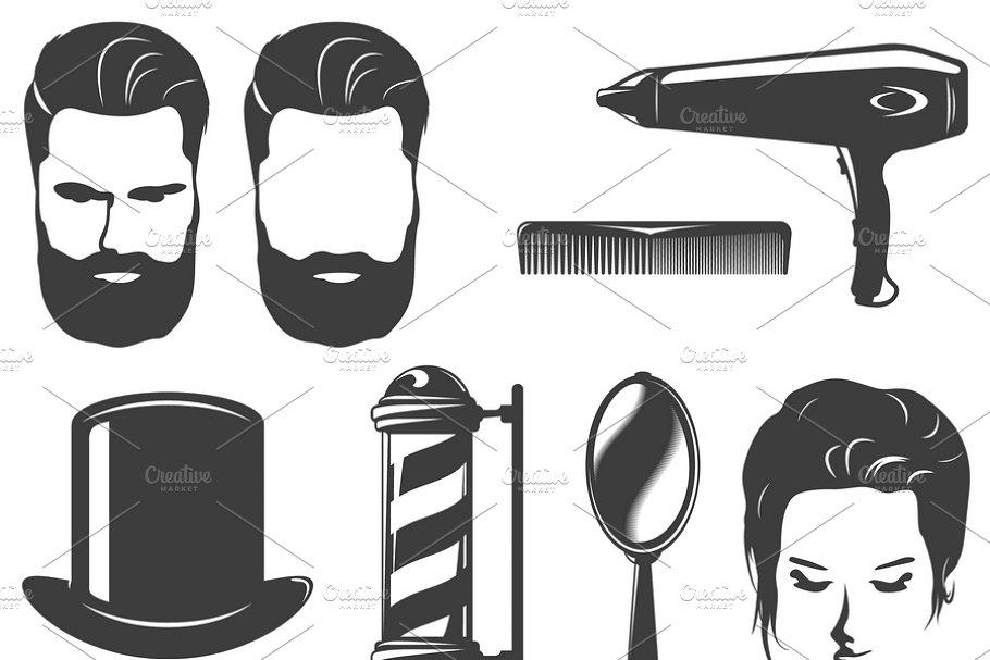 Barbershop haircut and shave tools ~ Illustrations ~ Creative Market