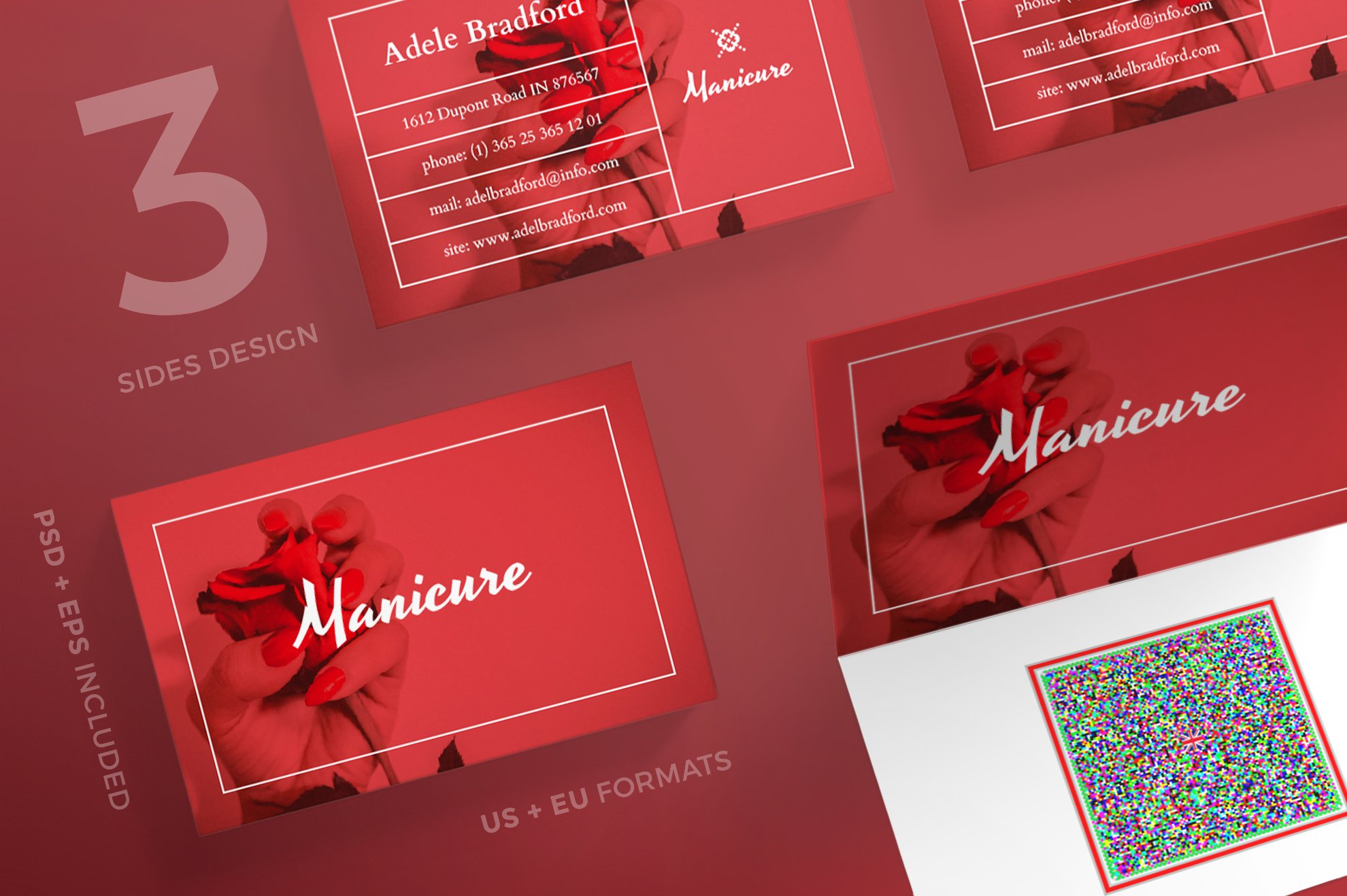 Business Cards | Manicure ~ Business Card Templates ~ Creative Market
