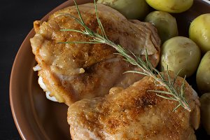 Baked chicken with potato