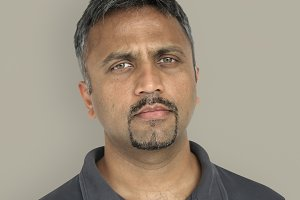 Indian man studio portrait