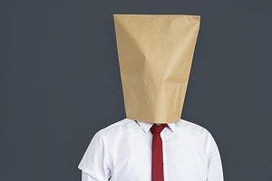 Head inside paper bag