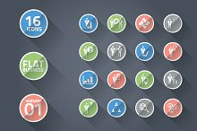 Flat business icon set 01 VECTOR