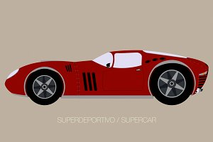 classical supercar vector