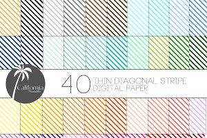 Diagonal Stripe Digital Paper