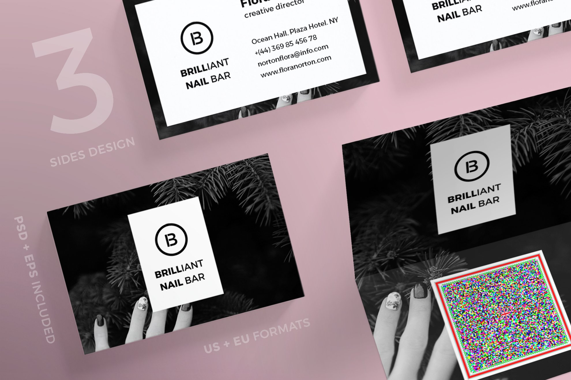 Business Cards | Brilliant Nail Bar ~ Business Card Templates ...