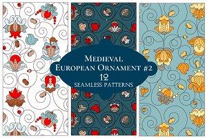 12 European Floral Patterns #2