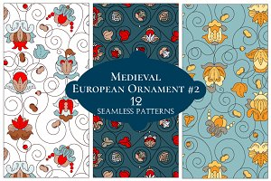 12 European Floral Patterns #2