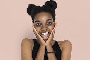 African descent woman portrait