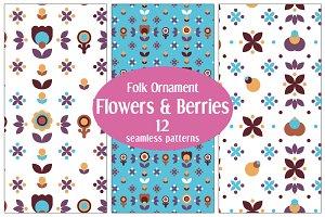 12 Floral Folk Patterns