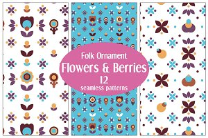 12 Floral Folk Patterns