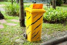 Yellow bins.