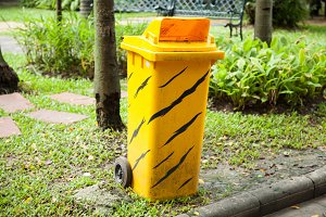 Yellow bins.