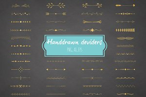 Handdrawn deviders clipart