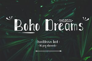 Boho Dreams handdrawn font