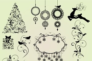 Christmas Elements Vectors & Clipart