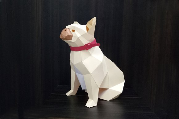 DIY French Bulldog - 3d papercraft